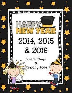 Includes 3 printable New Years books- 2014, 2015 & 2016! This is a great back to school activity for the New Year! This 10 page printable book includes pages for last years Memories & New Year Resolutions and Goals! 4 Easy Steps: 1.Print book 2.Cut pages in half 3.Staple together 4.Students fill out pages! At the end of the school year students can check their books to see if they have followed through on any (or all!) of their resolutions! Great for grade 1 grade 2 & grade 3 !