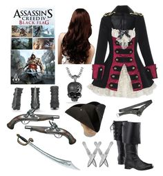 """Assassin's Creed IV Black Flag (Female Outfit)"" by infinity-sabry ❤ liked on Polyvore featuring S.W.O.R.D., David Yurman, women's clothing, women's fashion, women, female, woman, misses and juniors"
