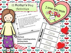 Mother's Day activities for K-2