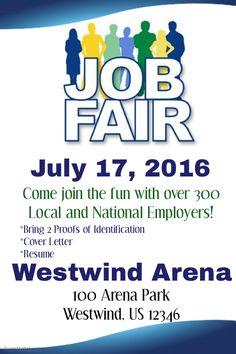 free job fair flyer template