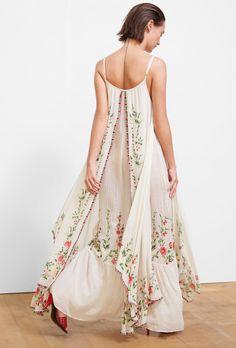Josephine Dress | Mes Demoiselles Beach Wear Dresses, Long Summer Dresses, Vestidos Vintage, Vintage Dresses, Boho Fashion, Fashion Outfits, Fashion Design, White Boho Dress, Josephine