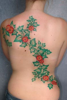 vine and flower tattoo - Google Search