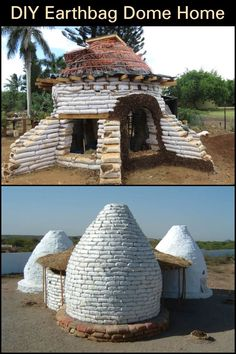 You Can Use This Earthbag Dome Home as a Cool Getaway Space in Summer and Warm Escape For Winter Environmental Architecture, Sustainable Architecture, Residential Architecture, Contemporary Architecture, Natural Building, Green Building, Heating A Greenhouse, Earth Bag Homes, Earthship Home