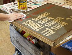 DIY Rustic Hand Painted Signs from Reclaimed Wood 6 — Saved By Love Creations