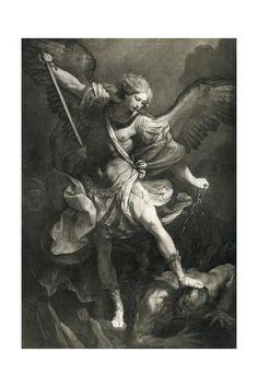 Giclee Print: Saint Michael by Reni Guido : St Micheal Tattoo, Saint Michael Tattoo, Archangel Michael Tattoo, Religious Tattoos, Religious Art, Angel Tattoo Designs, Biblical Art, Saint Michel, Angels And Demons