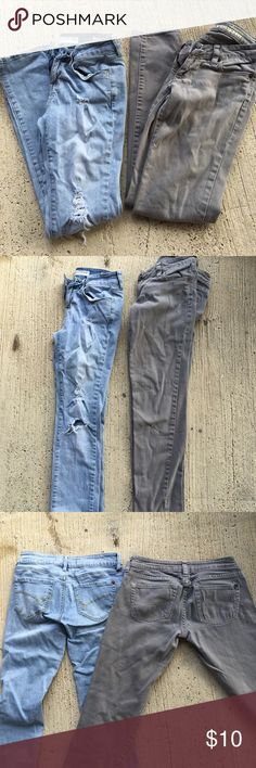 Bullhead Jeans Good Condition• light washed Distressed and light grey• 2 pairs for a great price• From Pacsun both size 1S Bullhead Jeans Skinny