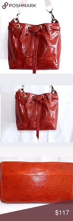 afbb3ffef1f4 CUIERIA FIORINTINA outside leather bag Cuoieria Fiorentina Bag Exterior is  red leather in a marble-