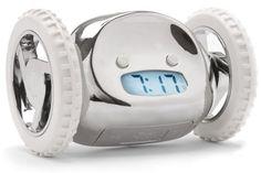 Clocky Alarm Clock On Wheels, Chrome Nanda Home,http://www.amazon.com/dp/B001989WIS/ref=cm_sw_r_pi_dp_OeJktb08B3YPBCRZ