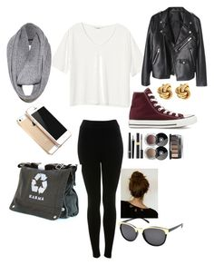 """""""School"""" by carley-luke ❤ liked on Polyvore featuring Monki, Alice + Olivia, Miss Selfridge, Converse and Chanel"""