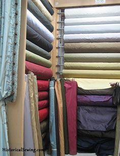 Where to buy historical fabrics - This list is in no way exhaustive, simply stores we've dealt with in the past, have friends who have done business with them and had a positive experience, or sites we find interesting.  Remember caveat emptor with any online merchant.