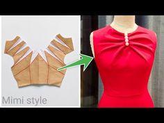 Neck Designs For Suits, Dress Neck Designs, Designs For Dresses, Blouse Designs, Girls Dresses Sewing, Dress Sewing Patterns, Blouse Patterns, Clothing Patterns, Bow Dresses