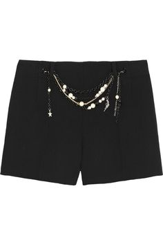 Moschino Cheap and Chic | Embellished wool-crepe shorts | NET-A-PORTER.COM