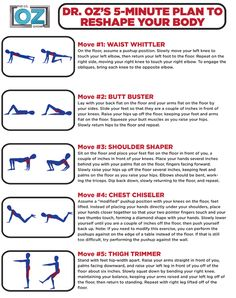 Dr. Oz's 5 minute workout to reshape your body.