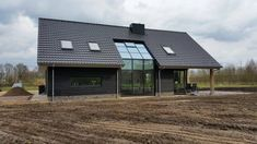 New build barn house in Ommen. - Horsto construction, New build barn house in Ommen. Prefab Shipping Container Homes, Metal Barn Homes, Wood Detail, New Builds, Architecture, Cladding, House Plans, New Homes, Cottage