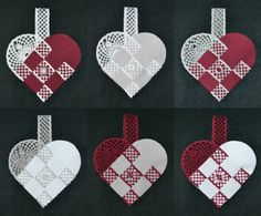 Flettede hjerter   Birkely Kniplinger Lacemaking, Lace Heart, Lace Jewelry, Bobbin Lace, Lace Detail, Butterfly, Christmas Ornaments, Holiday Decor, Inspiration