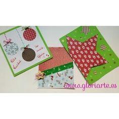 Felicita la Navidad y envía buenos deseos haciendo tu mismo las tarjetas navideñas 🎅. Te enseño 3 ideas DIY. 🎄 en mi perfil tienes este vídeo tutorial 🙂 #manualidades #craft #diy #pasoapaso #tutorial #tarjetas #navidad #gloriagloriarte