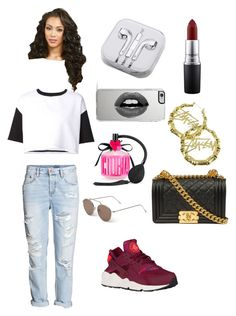 """Pow pow"" by qveennnnnn on Polyvore featuring H&M, ComeForBreakfast, Chanel, Stussy, Victoria's Secret, Illesteva, MAC Cosmetics, Lipsy and PhunkeeTree"