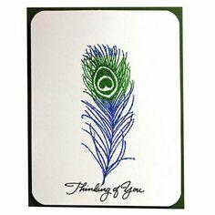 Blue Blaze Feather Card