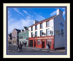 Streets Of Beautiful Dingle Ireland Framed Print By Mark E Tisdale - Street scene outside of a quaint Irish Pub - Murphy's - Great #giftidea for people who have been or dream of going to Ireland