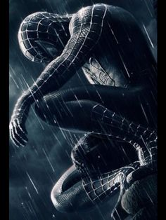 """A fantastic poster from the Marvel Comics movie Spider-man Peter Parker as the symbiote Venom! Check out the rest of our amazing selection of Spider-Man posters - the best on the """"web""""! Need Poster Mounts. Amazing Spiderman, Black Spiderman, Spiderman 3 2007, Spiderman Sam Raimi, Spiderman Noir, Spiderman Suits, Spiderman Art, Spiderman Poster, Spiderman Symbiote"""