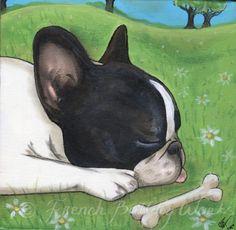 French Bulldog Bouledogue Francais Art Print by frenchbulldogworks, $18.99