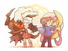 Pokemon - Darkrai and Cresselia, Dawn and Lucas