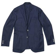 Epaulet by Luigi Bianchi Mantova, Vittorio Navy Pique Sportcoat by Luigi  Bianchi Mantova   Epaulet 9474f9d08de