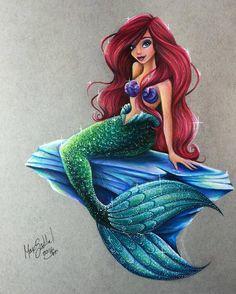 Ariel - Disney Princess Drawings by Max Stephen