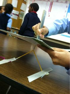 teaching magnetic force using magnets and paper clips!