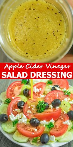 This apple cider vinegar salad dressing is my favorite homemade salad dressing and is very easy to p Salad Dressing Recipes, Salad Recipes, Cold Home Remedies, Sleep Remedies, Herbal Remedies, Cooking Recipes, Healthy Recipes, Fat Burning Foods, Apple Recipes