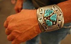 Turquoise in nature:  Hunky bracelet.  Santa Fe, NM.