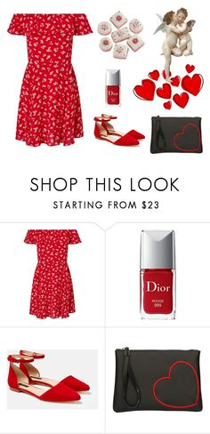 """Cupid"" by meliaclimons on Polyvore featuring Miss Selfridge, Christian Dior, Lafayette 148 New York and Gum by Gianni Chiarini"