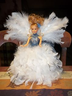 Birthday Angel for Becky. Her base is a flower pot.