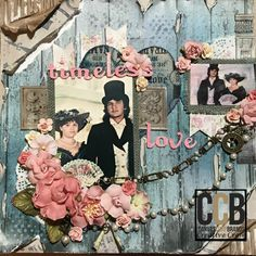 Hi Crafters! Connie Hall here with a distressed scrapbook page tutorial using the fabulous Architextures paper and Tattered Angels Mists. I created this mixed media scrapbook page using a picture of my then-boyfriend/now-husband and I at an old time photo booth at Canada's Wonderland. I worked in a gift shop there one summer. On the weekends, we would ride the rides and see the concerts at the park. I wanted to scrapbook those photos for a while and, when I finally found the perfec...