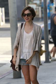 Lily Collins in West Hollywood – candids 2015