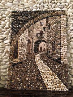 Pebble mosaic, Çakıl taşı Pebble art Pebblemosaic Taş sokak Art Rupestre of the Best Creative DIY Ideas For Pebble Art Crafts Pebble Mosaic, Mosaic Diy, Mosaic Crafts, Stone Mosaic, Pebble Art, Mosaic Garden, Mosaic Wall, Art Rupestre, Art Pierre
