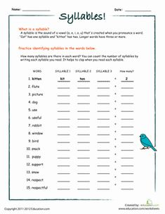 Printables Second Grade Phonics Worksheets second grade articles and phonics worksheets on pinterest counting syllables part i