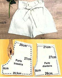 Sewing Hacks, Sewing Tutorials, Blouse Patterns, Sewing Patterns, Chor, Jumpers, Slipper, Dress Making, Casual Shorts