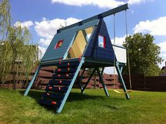 modern playset otherside - climbing wall