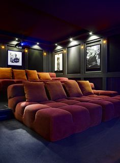 home theater ideas on a budget movie rooms Location Chalet de Luxe Palace Courchevel Htel 5 toiles Home Theater Room Design, Movie Theater Rooms, Home Cinema Room, Home Theater Decor, Home Theater Seating, Home Room Design, Dream Home Design, House Design, Media Room Design