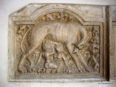 This ancient Roman stone is immured in a church named Marienkirche in Maria Saal. The stone shows the Capitoline Wolf (Lupa Capitolina). The wolf looks really annoyed, doesn't it? Carinthia, Annoyed, Architecture Details, Austria, Tattoo Ideas, Wolf, Lion Sculpture, Window, Statue