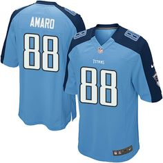 Men's Nike Tennessee Titans #88 Jace Amaro Game Light Blue Team Color NFL Jersey