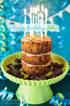 Peanut Butter Carob Chip Carrot Cake for Dogs Birthday!