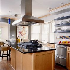 Kitchen Island Exhaust Fan how to choose a ventilation hood | hgtv inside kitchen island hood