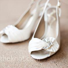 Pretty white shoes for the bride.