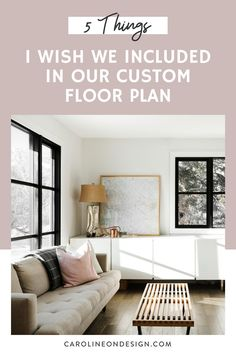 Are you creating your custom floor plan and hope to avoid 'mistakes' by learning from others? I share five things I wish I included in my custom floor plan Interior Decorating Tips, Interior Design Tips, Home Building Tips, Building A House, Room Above Garage, Custom Floor Plans, Mudroom Laundry Room, Small Sectional, House Design Photos