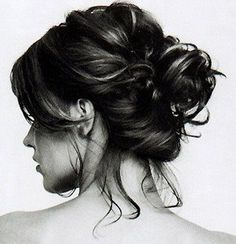 If only my hair would look like this controlled chaos in a bun..