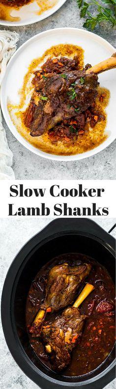 slow cooker lamb shanks - easy slow cooker recipe #crockpotrecipes #ad