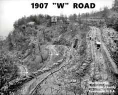 The 'W' Road Walden's Ridge, Tennessee. Across the Tennessee River from Chattanooga Tennessee Usa, Chattanooga Tennessee, Chattanooga Attractions, Downtown Chattanooga, Tennessee River, Old Pictures, Old Photos, Vintage Photos, Signal Mountain Tennessee
