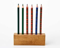 plaid pencils